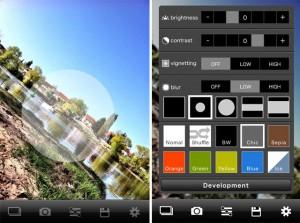 MyFilm Foto-App: Tiltshift-Effekt und Voreinstellungen für eine Veränderungen der Farben